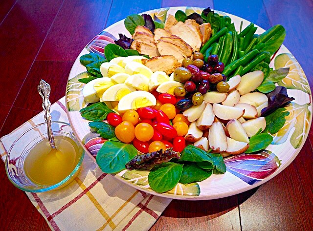 Chicken Nicoise Salad ( skip the green beans during Passover)