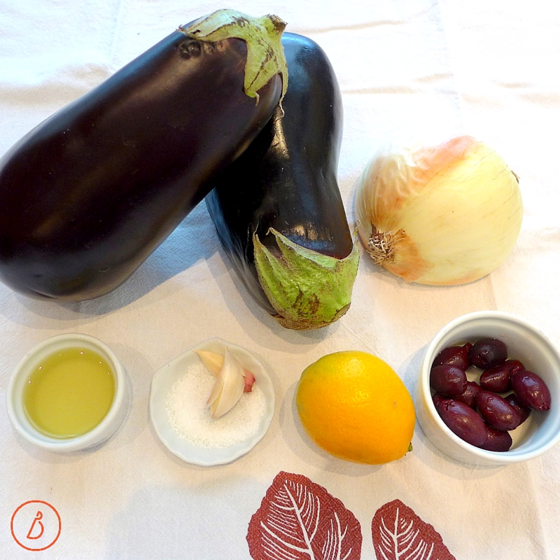 What you will need to make Mediterranean Eggplant Dip