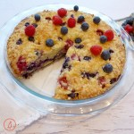 What to make for July Fourth- this incredible raspberry and blueberry crumb cake called Red, White and Blue Buckle