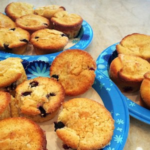 Dig in to delicate, buttery Lemony Blueberry cupcakes. Can be gluten free! Recipe at diginwithdana.com