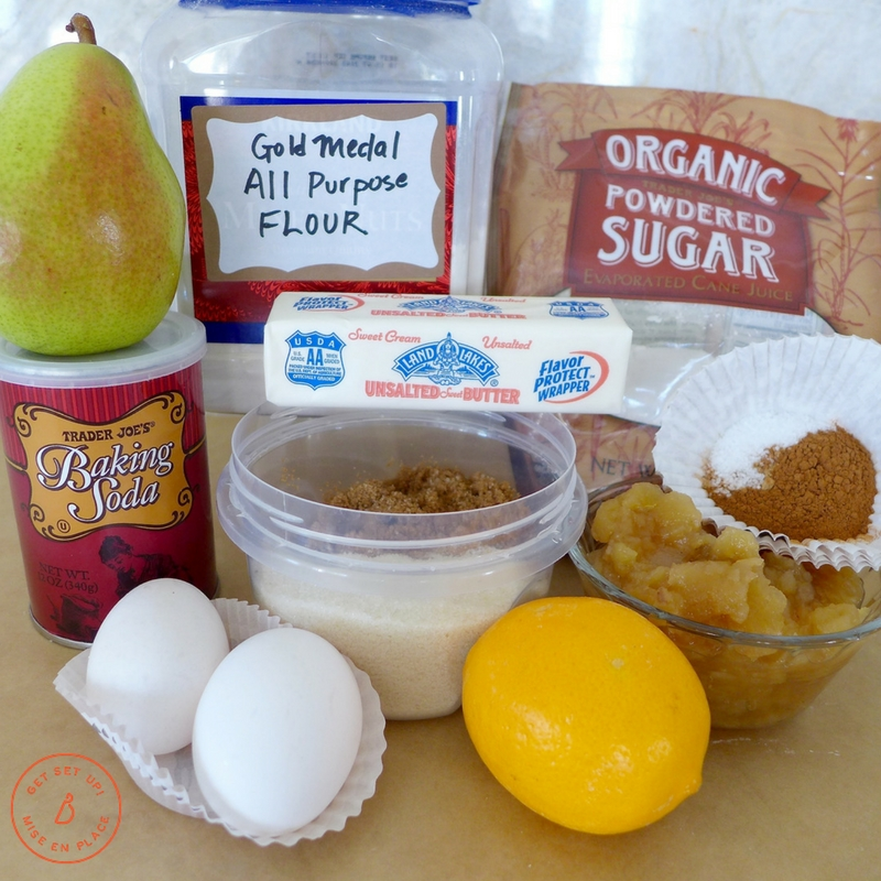 Everything you need to make delicious applesauce pear cake. Recipe and variations at diginwithdana.com