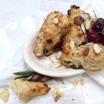 Almond Cherry Scones recipe and helpful photos at diginwithdana.com