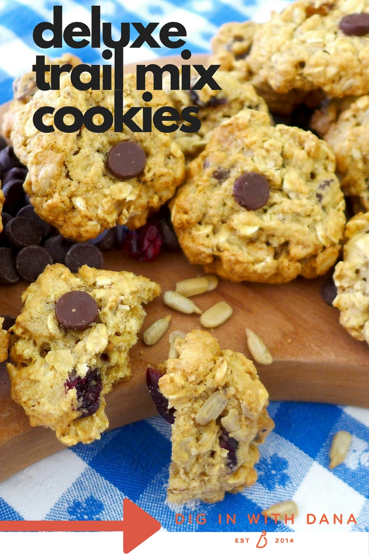 Dig in to Deluxe Trail Mix Cookies. Recipe and variations at diginwithdana.com