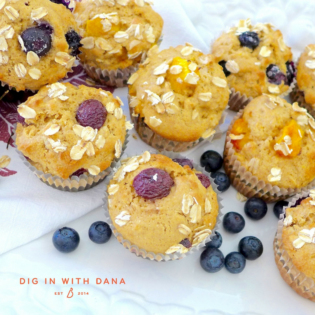Fruity Brown Sugar Oatmeal Muffin recipe and ideas at diginwithdana.com