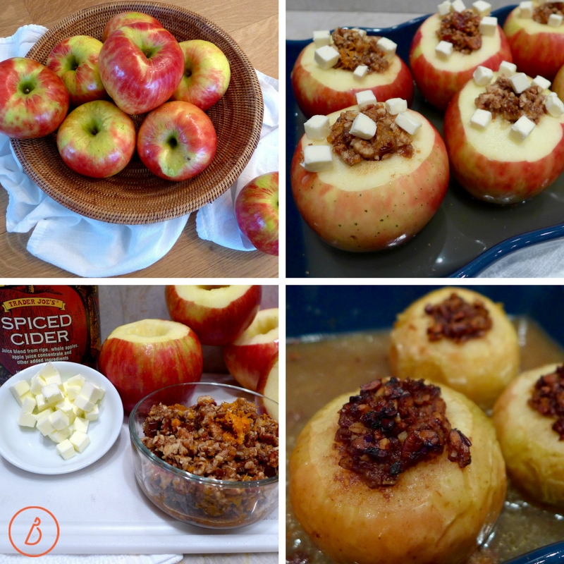 Date Nut Stuffed Baked Apples recipe and variations at diginwithdana.com
