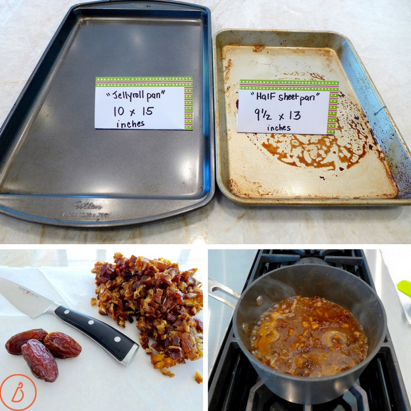 Use a baking sheet or half sheet pan to make Donia's Cinnamon Date Bars. Full recipe and helpful photos at diginwithdana.com