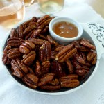Sweet and Spicy Roasted Pecans are a fast appetizer and salad condiment you'll make and adapt over and over again! Recipes and ideas at diginwithdana.com