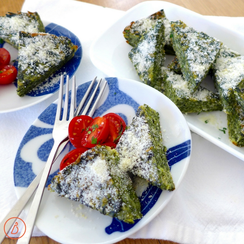 Low carb Spinach Parmesan Pie is a family friendly vegetable side or main you'll love. Recipe and variations at diginwithdana.com