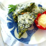 Dress up your low carb dinner with this Low carb Spinach Parmesan Pie, Recipe and Variations at diginwithdana.com