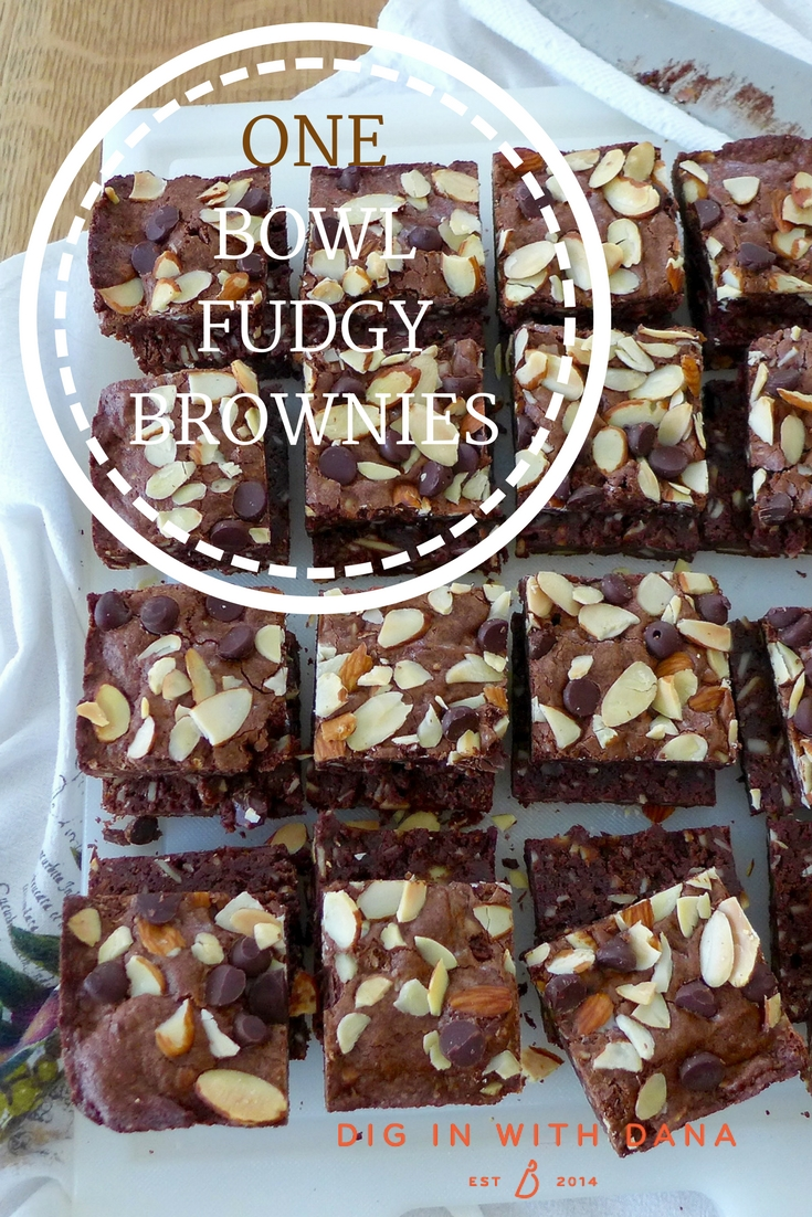 YOu gotta try this easy, no mixer required one bowl fudgy brownies recipe at diginwithdana.com