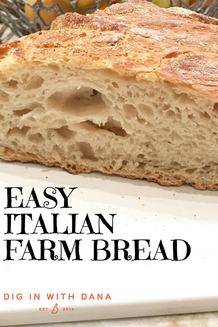 Easy Italian Farm Bread recipe and ideas at diginwithdana.com