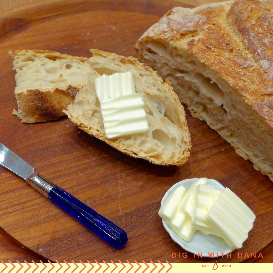 Easy Italian Farm Bread Recipe at diginwithdana.com