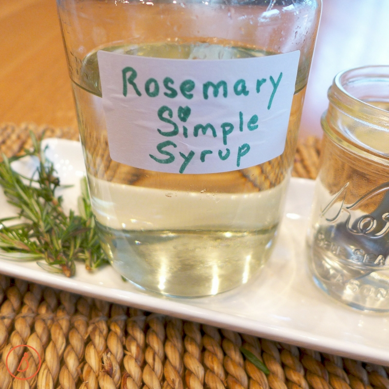 Add a splash of Rosemary Simple Syrup to your Simple Ruby Margarita and get the party started! Recipe at diginwithdana.com