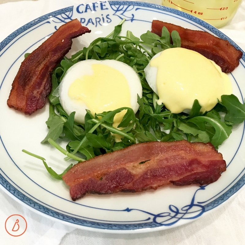 Spoon warm hollandaise sauce over eggs, toast, spinach or spicy salad greens like arugula. Recipe and helpful photos at diginwithdana.com