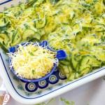 Easy Cheesy Zucchini Bake recipe and versatile ideas at diginwithdana.com