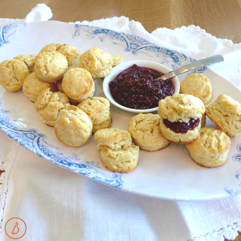 Whipped Cream Biscuits can be small or big, savory or sweet. Recipe and serving ideas at diginwithdana.com