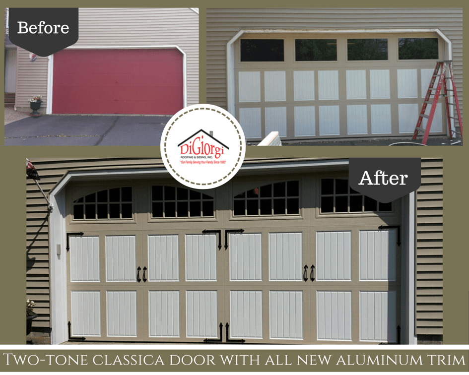 DiGiorgi Roofing and Siding has been very busy this Spring season with Garage Door Projects in CT! Sometimes the easiest and simplest remodel starts and ... & Garage Door Projects In CT   CT Garage Doors   DiGiorgi