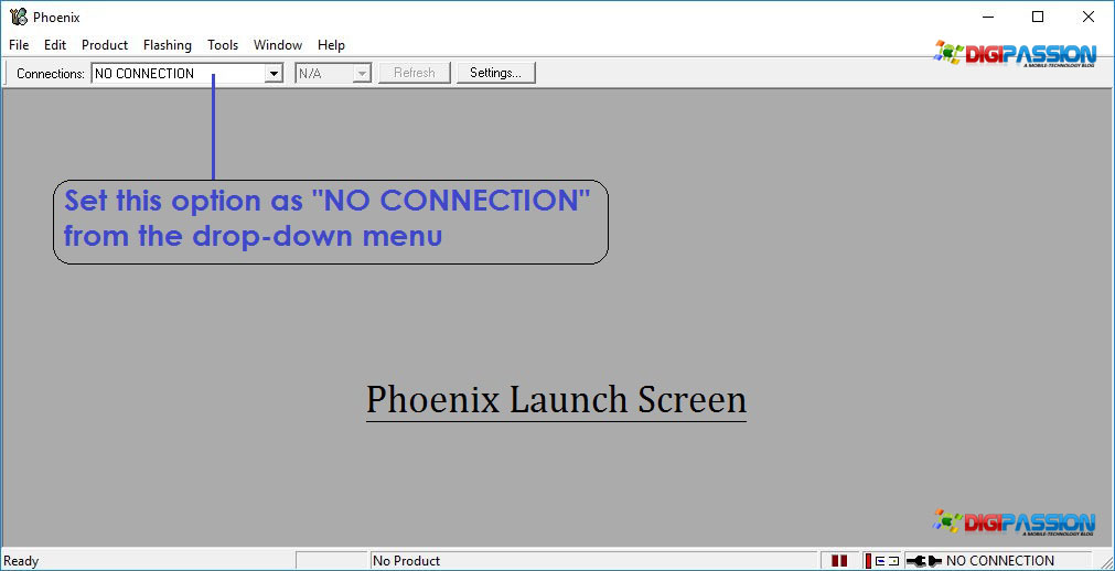 Phoenix launch screen