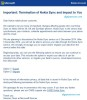 """Termination of Nokia Sync"" Mail"