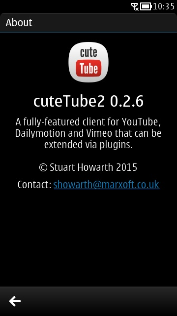 CuteTube2 Symbian free youtube downloader app
