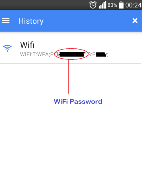 saved wifi password android