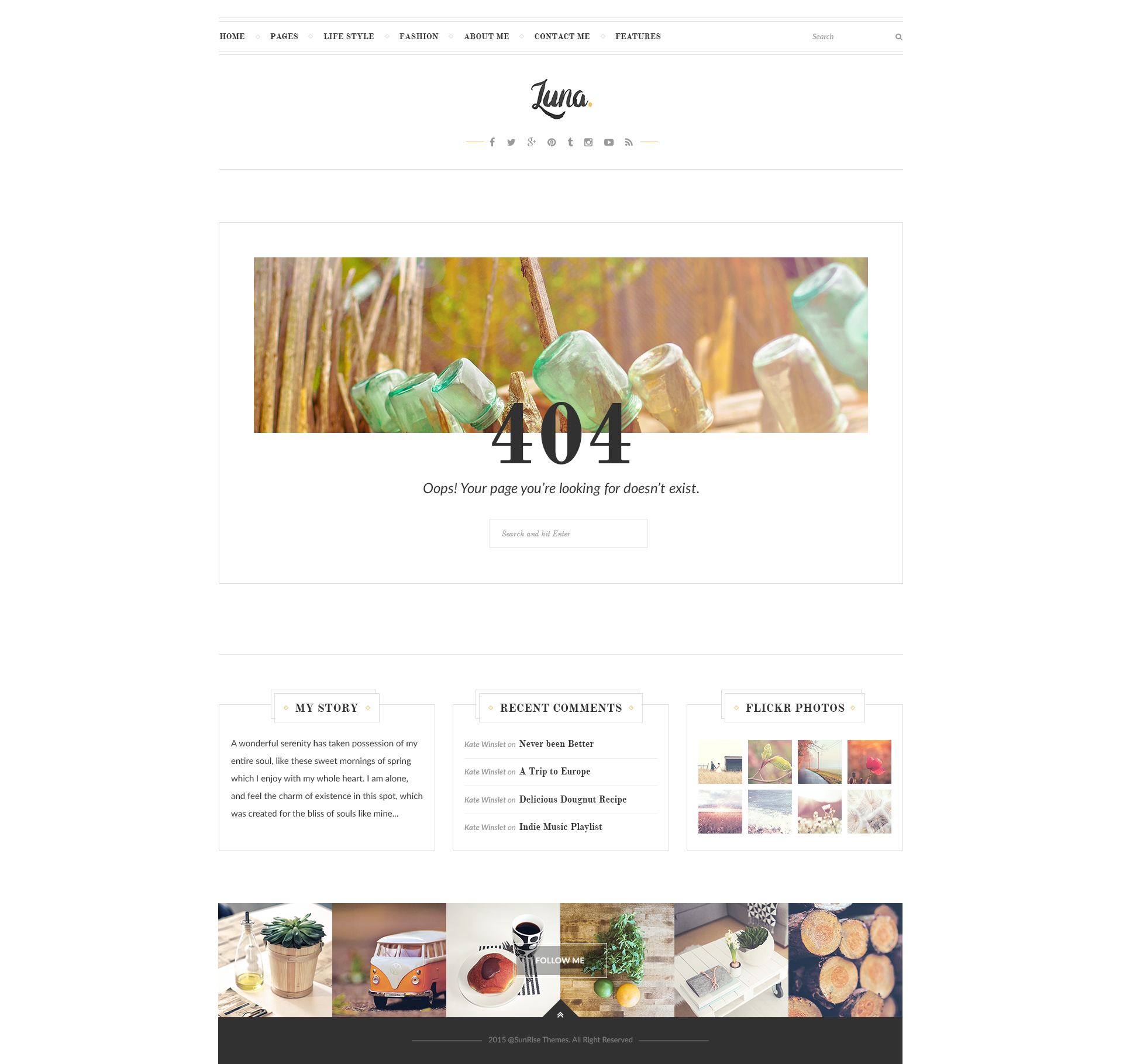 LUNA - PSD Template for Personal Blog | Digipieces
