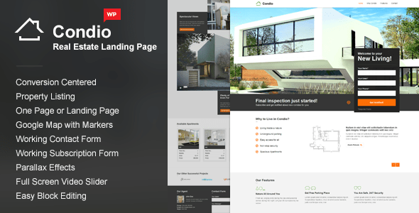 Condio - Real Estate WordPress Themes