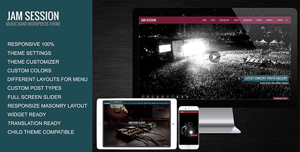 JamSession - WordPress Entertainment Themes
