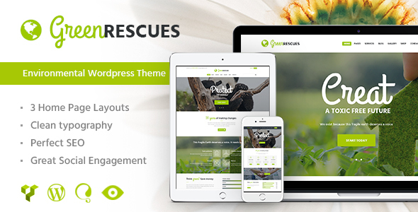 Green rescues - environment themes