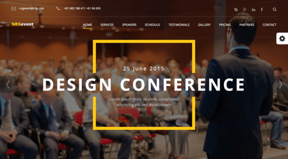 NRGevent - conference & event themes