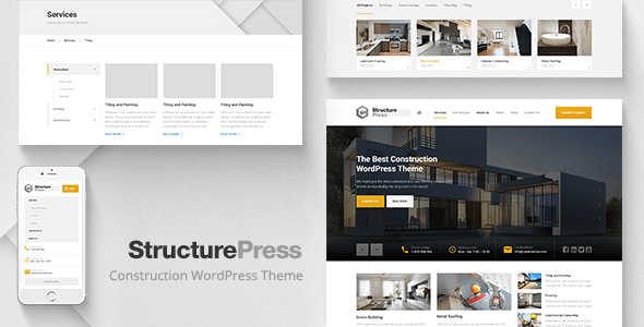 Structurepress - construction WordPress themes