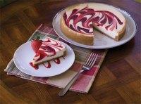 Strawberry Swirl Cheesecake   Digipiph