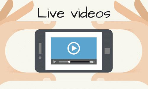 Social media live video tips