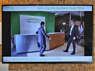 Open Country Dairy NZ - Auckland HO Digi Screen