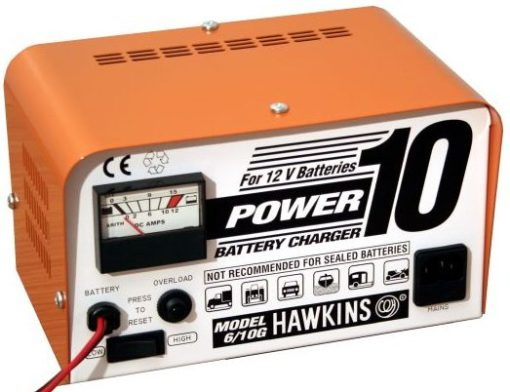 Power 10 Manually operated 12 volt 6.4 amp charger