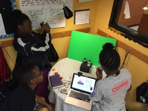 Kids at Operation Breakthrough are using HUE Animation software to create a Claymation animation.