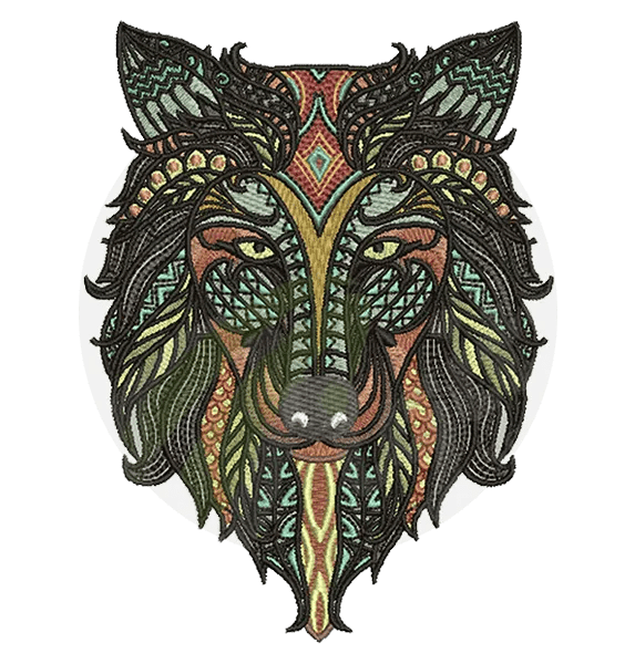 Wolf-Embroidery
