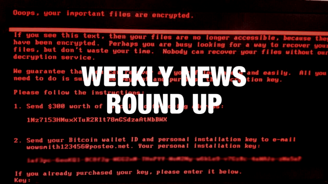 Weekly News Roundup June 30th 2017