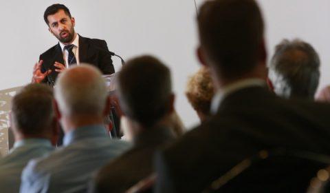 Scottish Transport Minister Humza Yousaf addressing MaqaS Scotland Launch