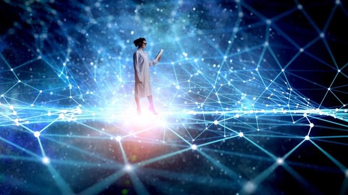 A data scientist, in a digital brain,