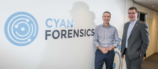 Ian Stevenson, CEO Cyan Forensics (right) with Paul Devlin, Investment Manager, Mercia Fund Managers