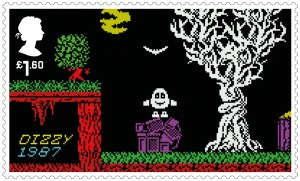 Video Games Dizzy 1987 stamp
