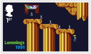 Video Games Lemmings 1991 stamp