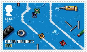 Video Games Micro Machines 1991 stamp