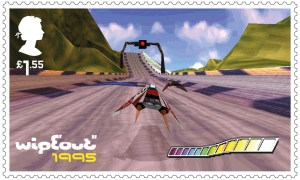 Video Games Wipeout 1995 stamp