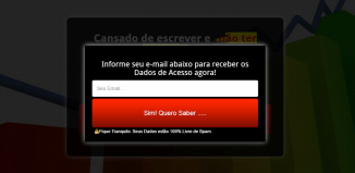 pop up exemplo de pagina de captura
