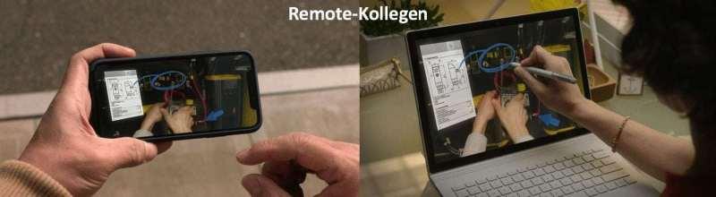 Microsoft HoloLense Remote Assist Unterstützung durch einen Remote Kollegen