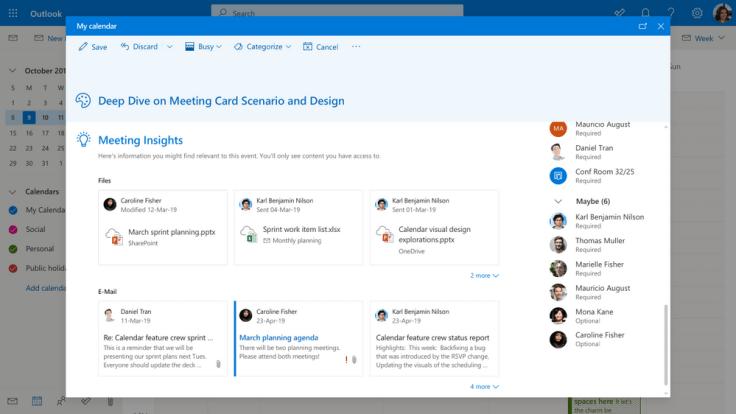 Mehrwerte von Office 365 Outlook Online Meeting Insights