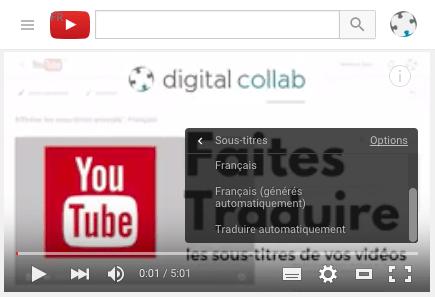 activer les sous-titres traduits par google translate dans youtube