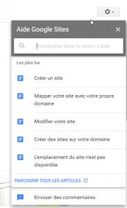 Aide Google Sites